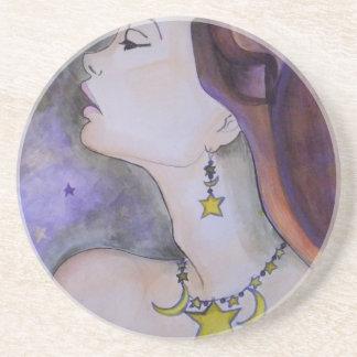 Estrella de la luz de la estrella brillante posavasos de arenisca