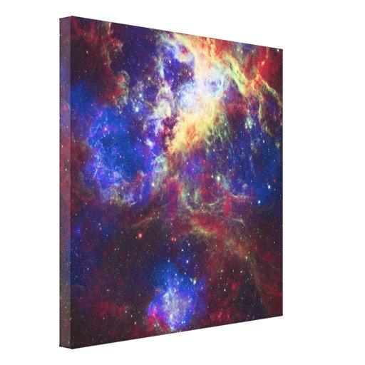 Estrella de la nebulosa del Tarantula que forma la Impresión En Lona Estirada