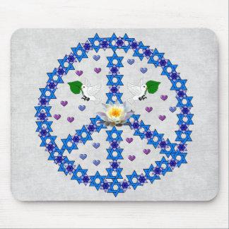 Estrella de la paz de David Alfombrilla De Ratón