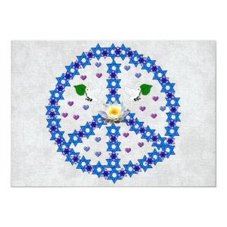 Estrella de la paz de David Invitación 12,7 X 17,8 Cm