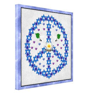 Estrella de la paz de David Impresión De Lienzo