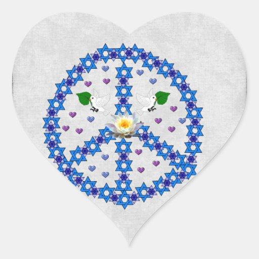 Estrella de la paz de David Pegatinas Corazon