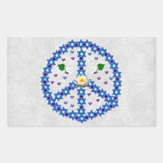 Estrella de la paz de David Rectangular Altavoz