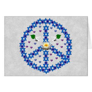 Estrella de la paz de David Tarjeta De Felicitación