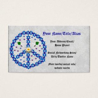 Estrella de la paz de David Tarjeta De Negocios