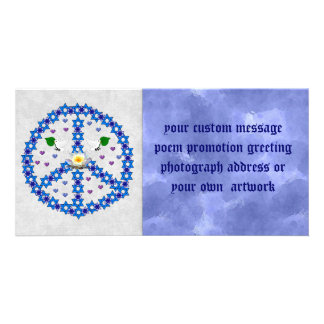Estrella de la paz de David Tarjeta Fotográfica Personalizada