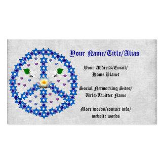 Estrella de la paz de David Plantillas De Tarjetas Personales