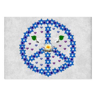 Estrella de la paz de David Tarjetas De Visita