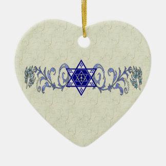 Estrella de la paz de Jánuca Ornamentos De Navidad