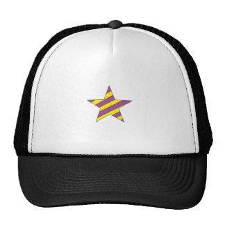 estrella de la púrpura y del amarillo gorras de camionero