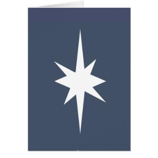 Estrella de la tarjeta de Navidad de Belén