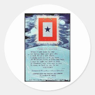 Estrella de la victoria de la gloria pegatinas redondas