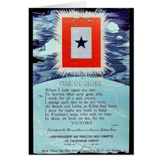 Estrella de la victoria de la gloria tarjetas