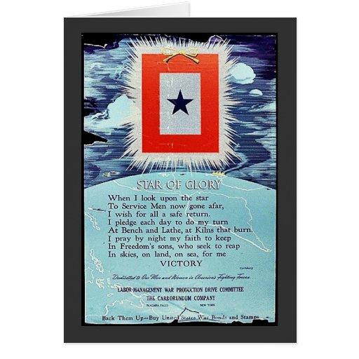 Estrella de la victoria de la gloria tarjeta