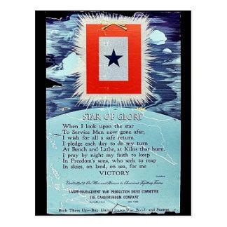 Estrella de la victoria de la gloria tarjeta postal