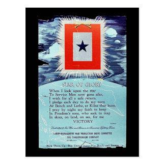 Estrella de la victoria de la gloria postales