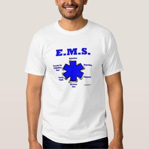 Estrella de la vida que significa la camisa de EMT
