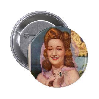 Estrella de los años 40 de Dorothy Lamour de las Chapa Redonda De 5 Cm