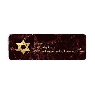 Estrella de mármol roja de PixDezines Masala de Etiqueta De Remite
