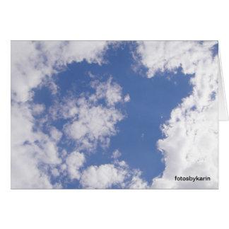 Estrella de nube, tarjeta: star the of your life tarjeta de felicitación