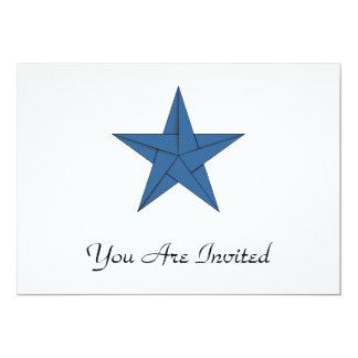 Estrella de Origami - azul Invitación 12,7 X 17,8 Cm