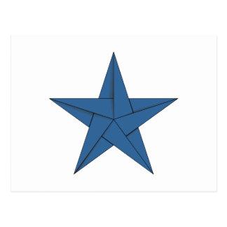 Estrella de Origami - azul Postal
