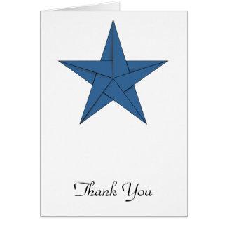 Estrella de Origami - azul Tarjeta Pequeña