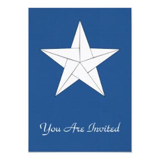Estrella de Origami - blanco Invitación 12,7 X 17,8 Cm