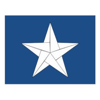Estrella de Origami - blanco Postal