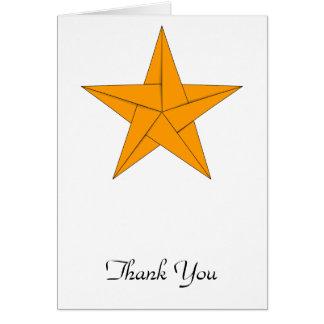 Estrella de Origami - oro Tarjeta Pequeña