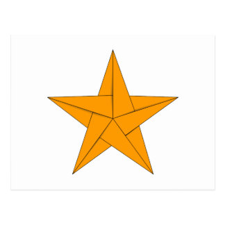 Estrella de Origami - oro Postal