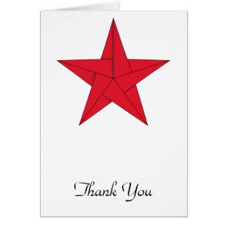 Estrella de Origami - rojo Tarjeta Pequeña