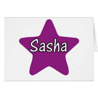 Estrella de Sasha Tarjeta De Felicitación
