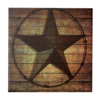 Estrella de Tejas de madera del granero primitivo