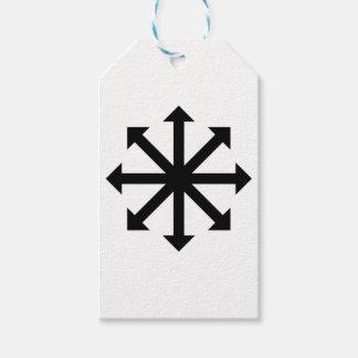 Estrella del caos etiquetas para regalos