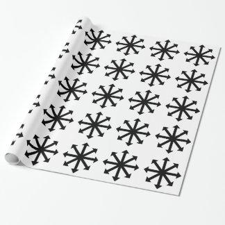 Estrella del caos papel de regalo