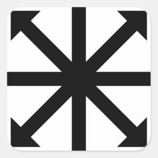 Estrella del caos pegatina cuadrada