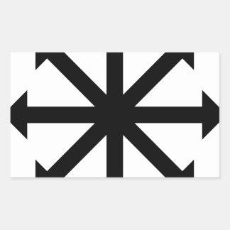 Estrella del caos pegatina rectangular