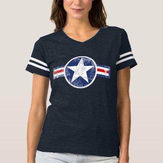 Estrella del cuerpo de aire del ejército del camiseta
