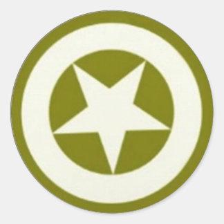 Estrella del ejército pegatina redonda