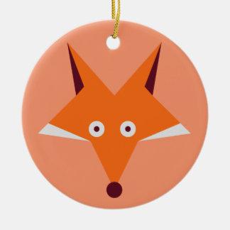 Estrella del Fox Adorno Navideño Redondo De Cerámica