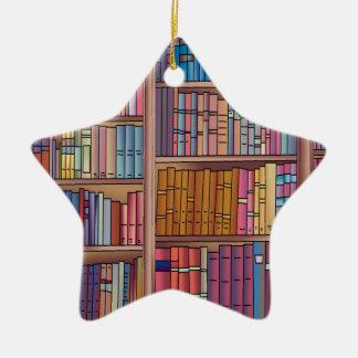 Estrella del gusano de libro adorno de cerámica en forma de estrella