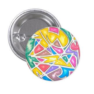 Estrella del hipopótamo - botón del arte abstracto pin
