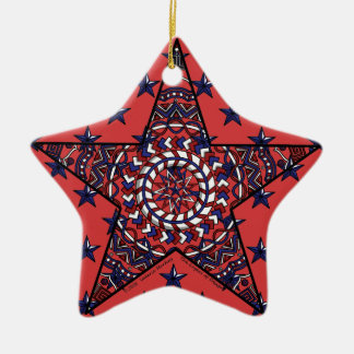 Estrella del ornamento de la independencia ornato