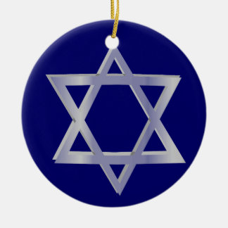 Estrella del ornamento del azul de David Jánuca Ornatos