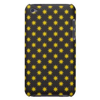 Estrella del oro con el fondo negro funda para iPod de Case-Mate