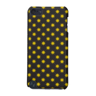 Estrella del oro con el fondo negro funda para iPod touch 5