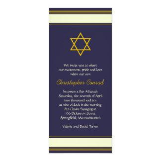 Estrella del oro de la marina de guerra de la invitación 10,1 x 23,5 cm