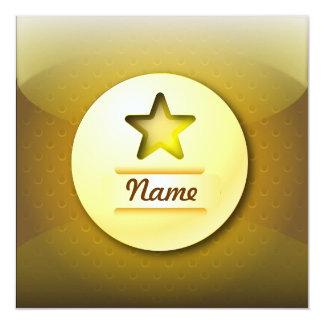 Estrella del oro del icono de la invitación