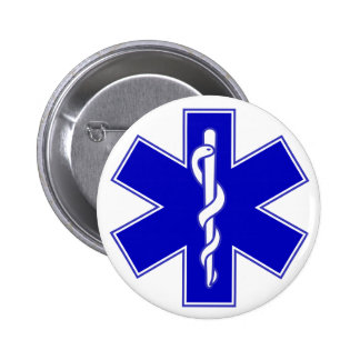 Estrella del Pin del médico de la vida Chapa Redonda De 5 Cm